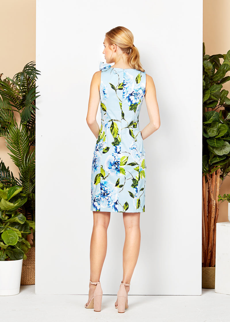 SUSAN DRESS - BLUE FLORAL