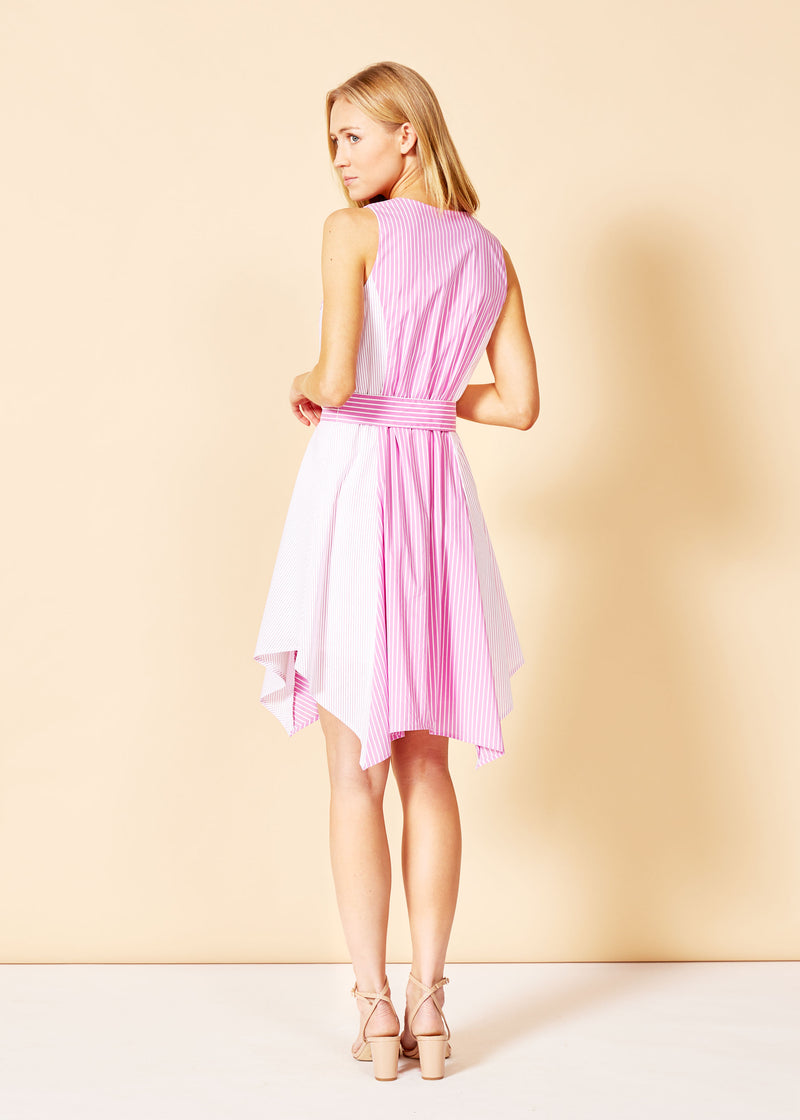 SUTTER DRESS - PINK / WHITE