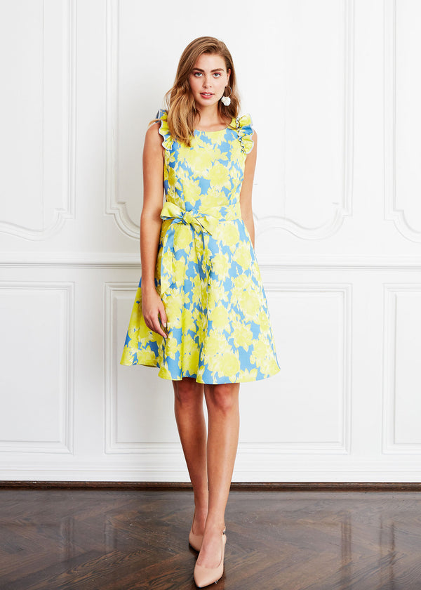 ALISON DRESS - GARDENIA JACQUARD