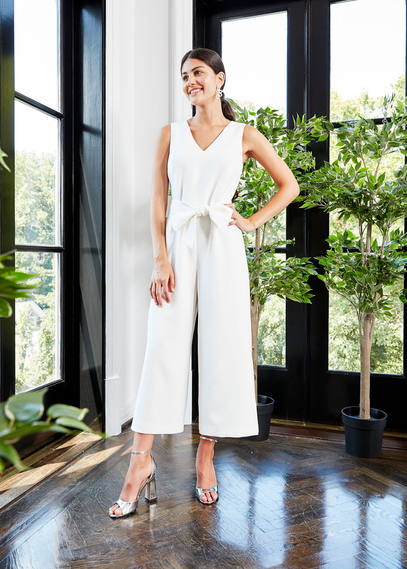 BRIE WIDE-LEG JUMPSUIT WHITE