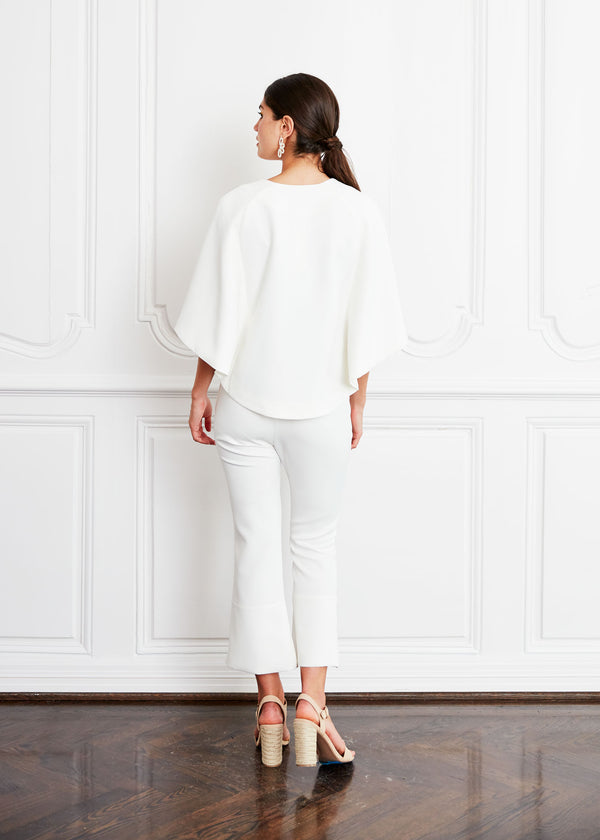 SAM CAPE JACKET WHITE