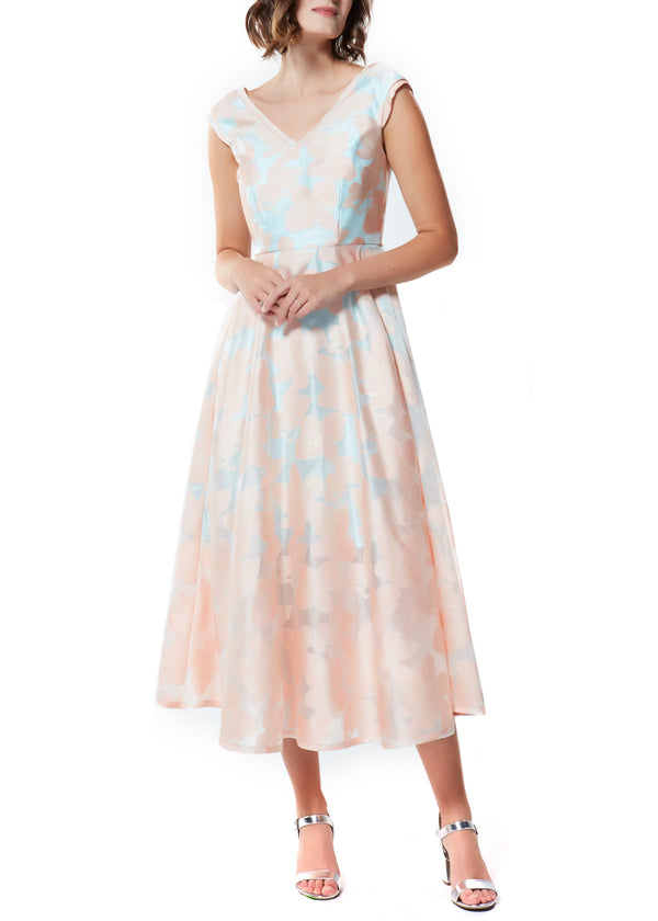 SYLVIA DRESS- ROSE/LIGHT BLUE