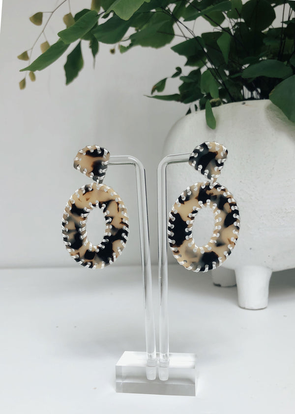 Tortoise Stitch Earrings