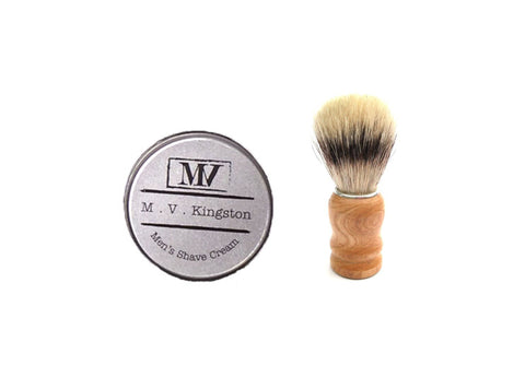 M.V. Kingston Men's Shave Cream & Brush