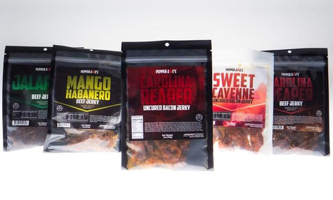 pepper joe's spicy beef jerky, sweet and spicy jerky