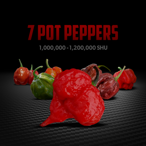 seven pot pepper ready to burn your tongue off