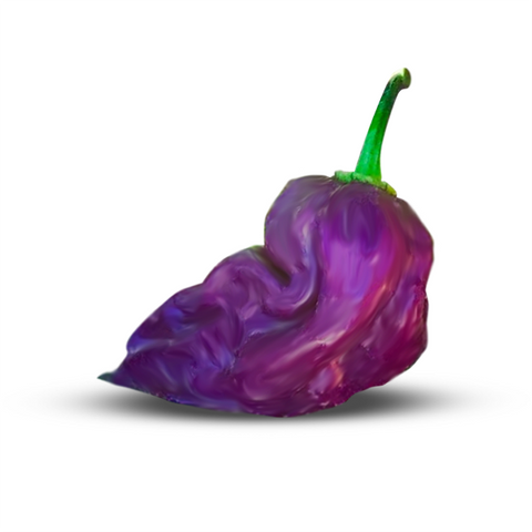 the purple ghost pepper is one of the rarer peppers due to its purple color