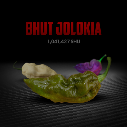 also known as naga jolokia pepper, these peppers come in different shades and provide different flavors