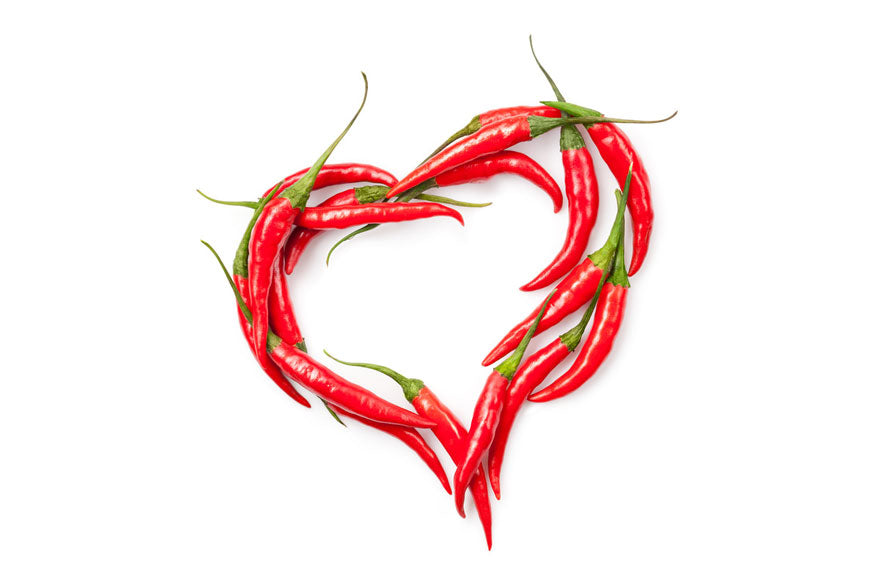 Valentines Heart of Cayenne Hot Peppers - Pepper Joe's