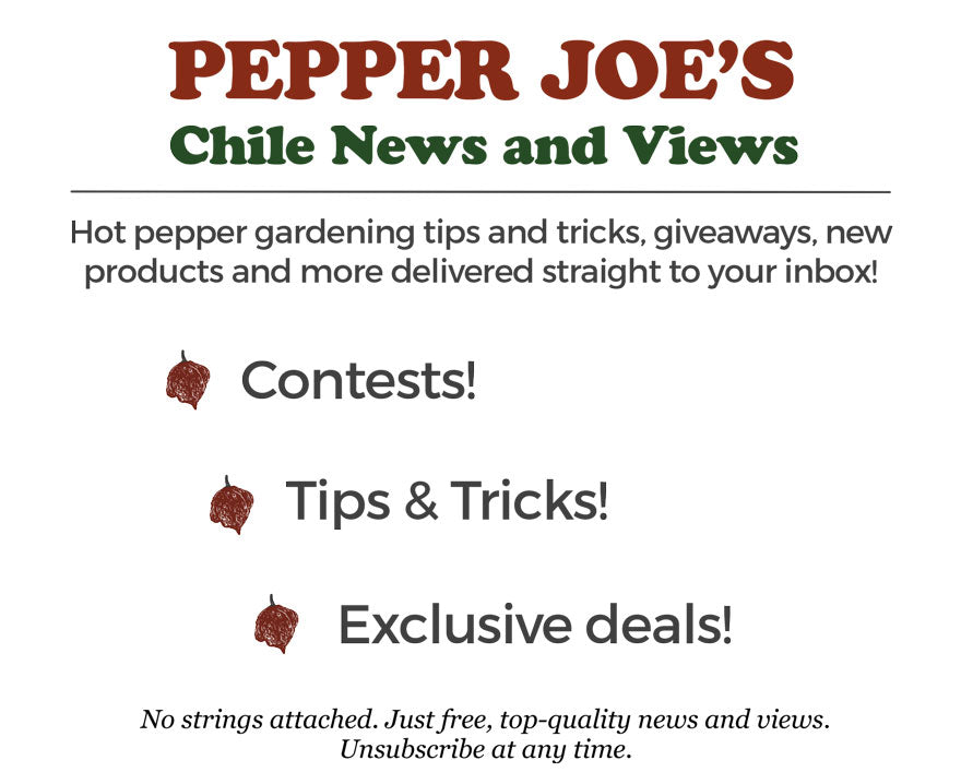 Pepper Joe's - Chile News and Views Newsletter Signup