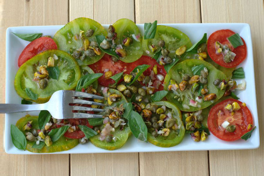 Green Zebra Tomato Salad - Pepper Joe's