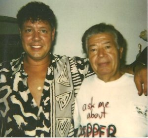 Me and Dad in 1989 when I founded Pepper Joe's. He loved to wear his shirt 'Ask me about Pepper Joe's'. My Shirt and hair?? Hey it was the 80's man....that's my excuse and I'm sticking with it.