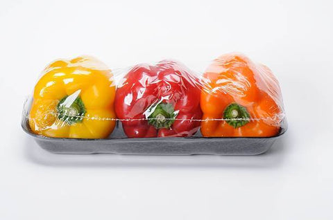 plastic wrapped unfresh peppers