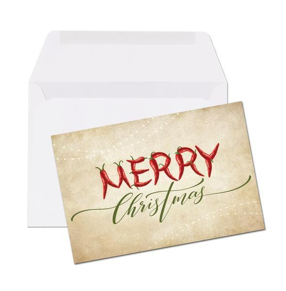 pepper christmas card 25 4x6 folded note cards with envelopes
