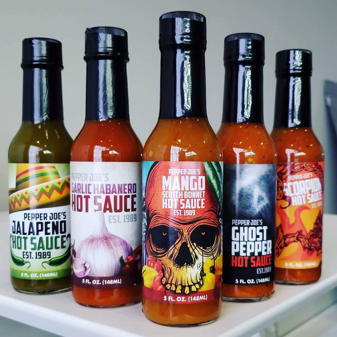 Pepper Joe's Hot Sauce 5 Pack | Ultimate Spicy Gift for heat lovers!
