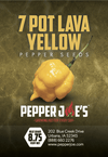 7 Pot Lava Yellow Pepper Seeds