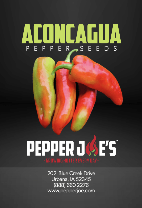 The aconcagua chile grows to as long as 12 inches and produces sweet flavors with spice, try this for size!
