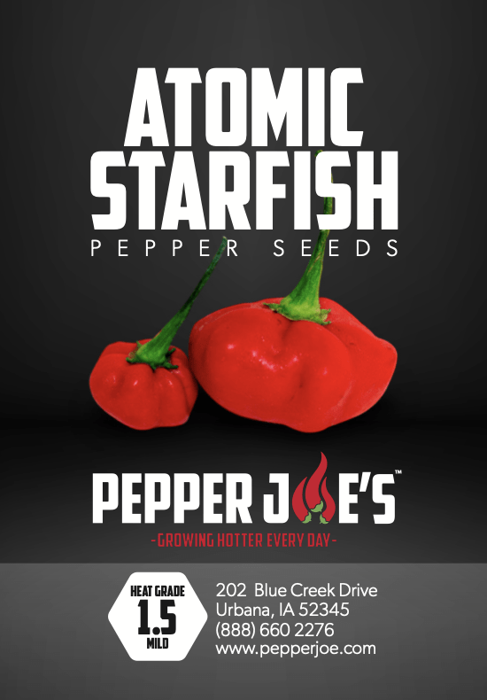 Pepper Joe's atomic starfish pepper seeds