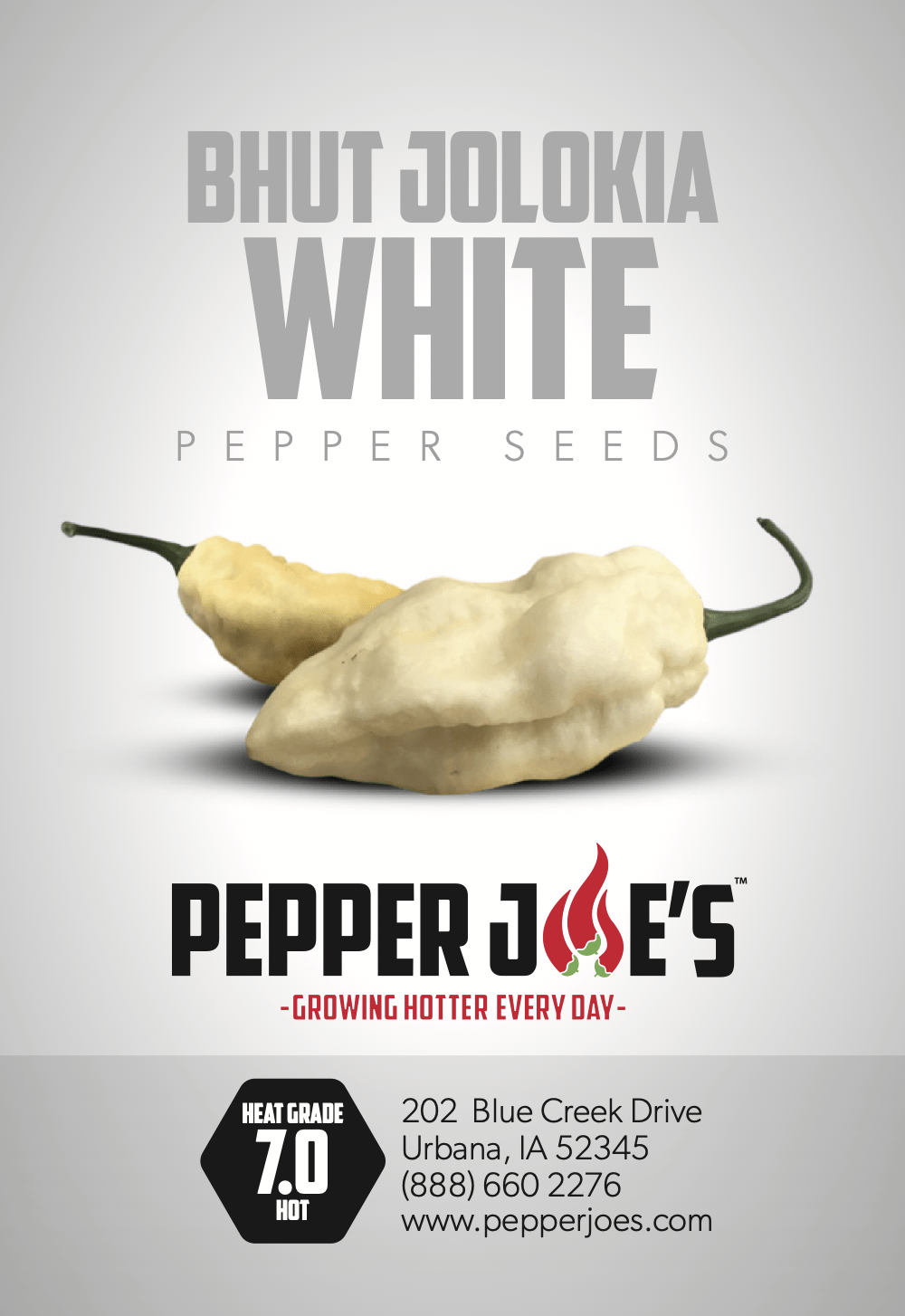 White Ghost (Bhut Jolokia) Pepper Seeds