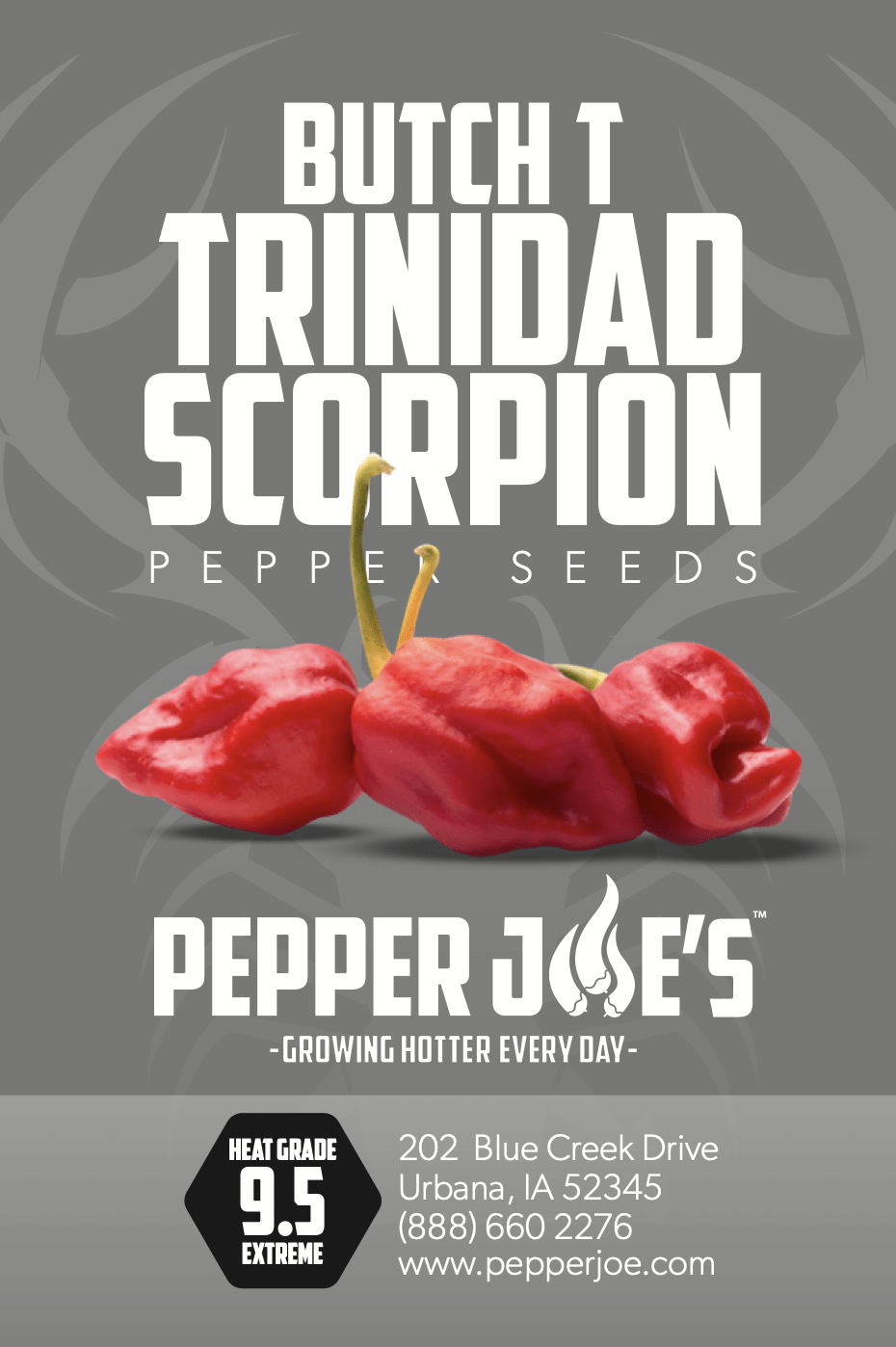 Pepper Joe's trinidad scorpion butch t pepper