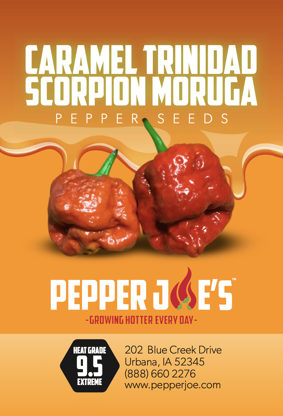 Caramel Trinidad Scorpion Moruga Hot Pepper Seeds - Pepper Joe's