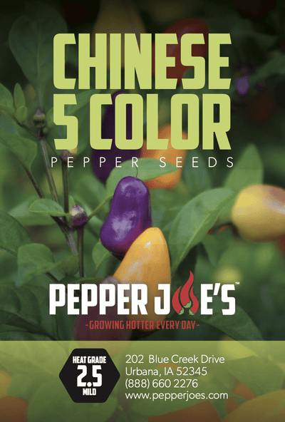 Chinese 5 Color Pepper Seeds