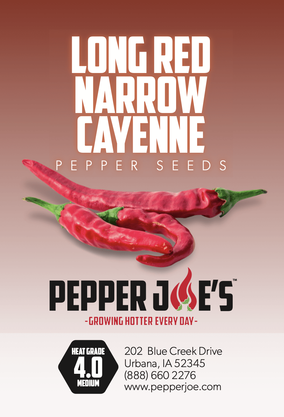 pepper joe's cayenne long thin pepper