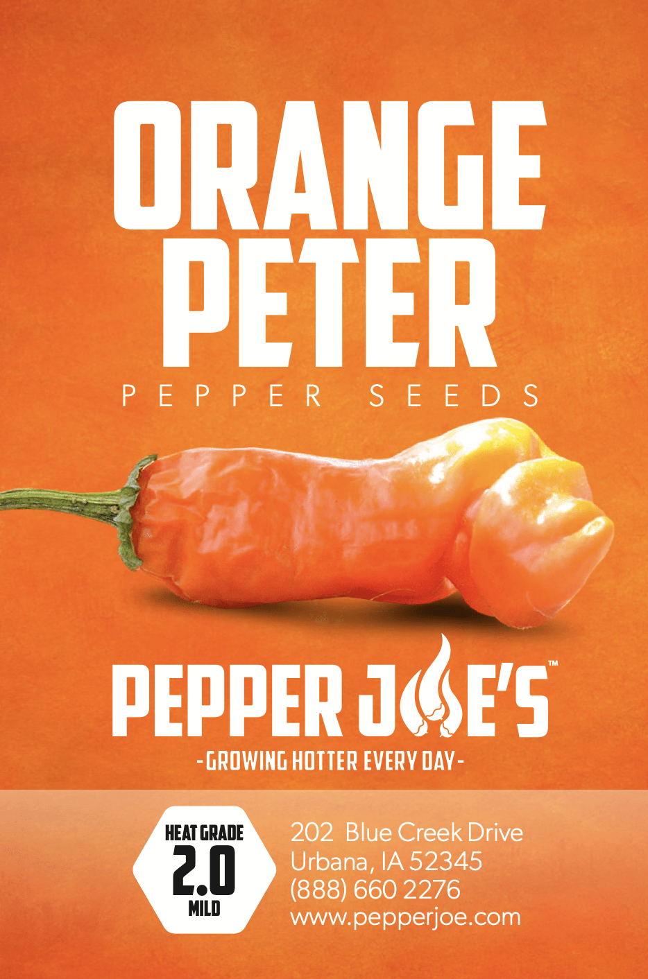 pepper joe's orange peter pepper seeds