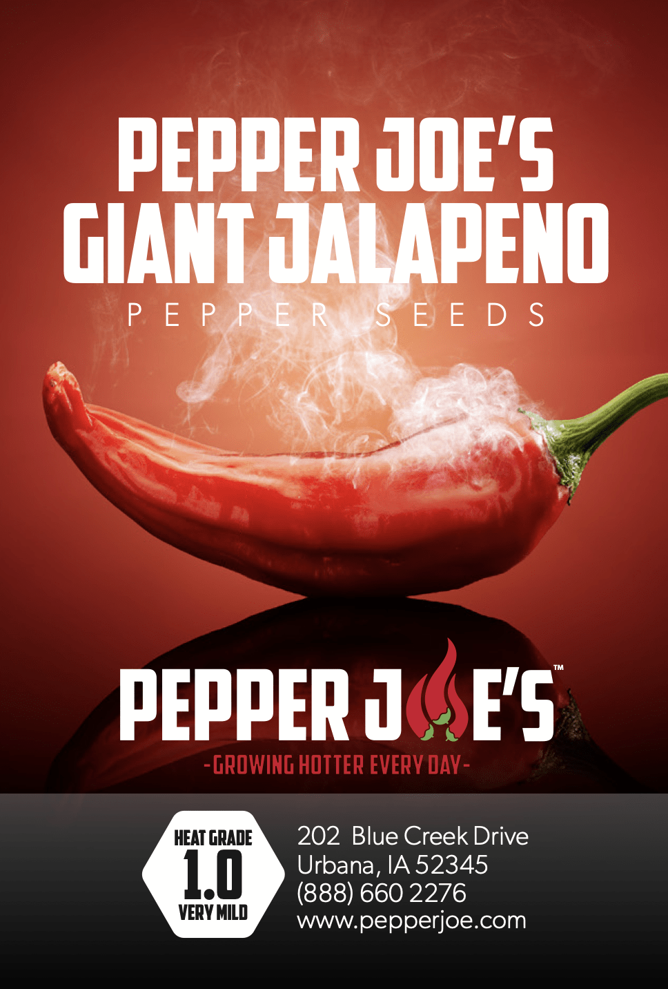 Pepper Joe's giant jalapeno pepper seeds