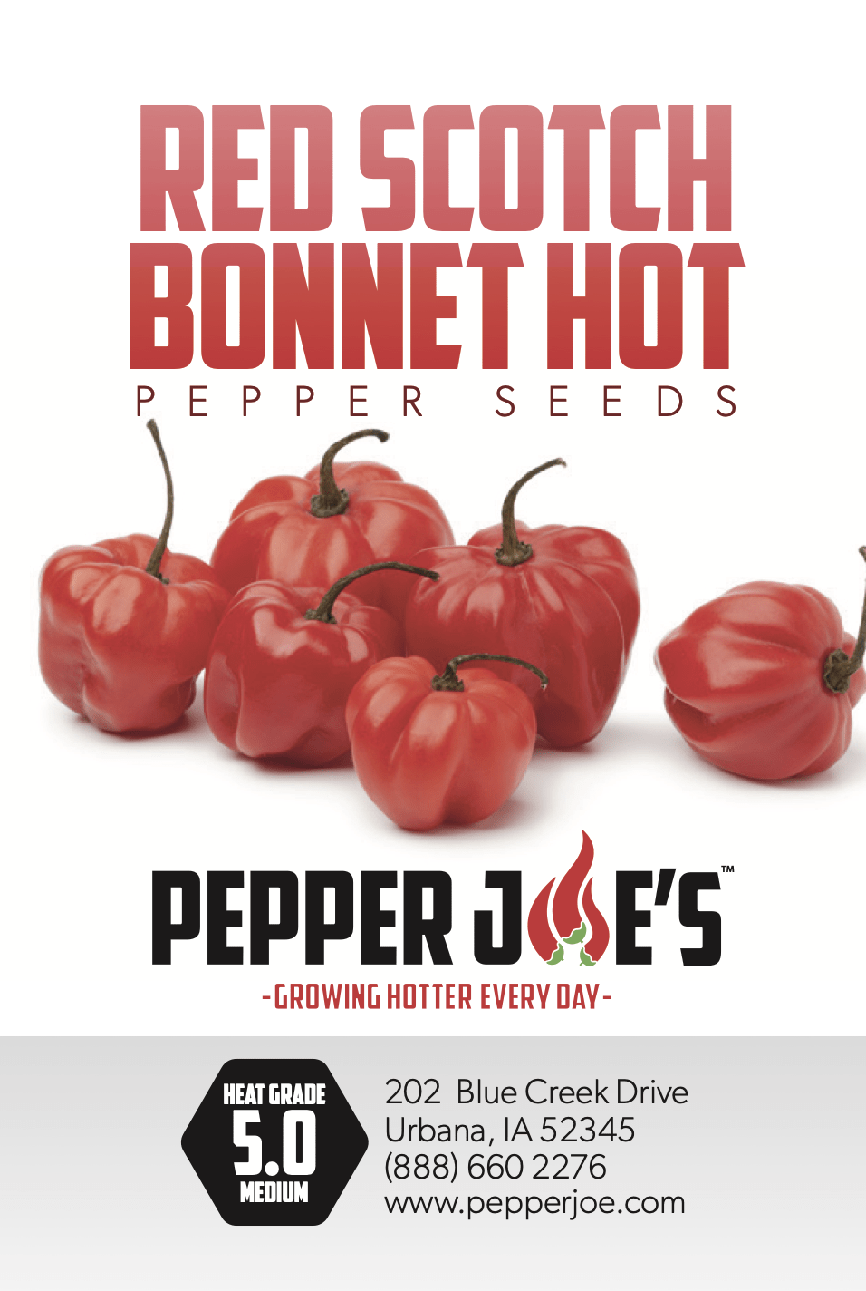 Pepper Joe's red bonnet pepper seeds