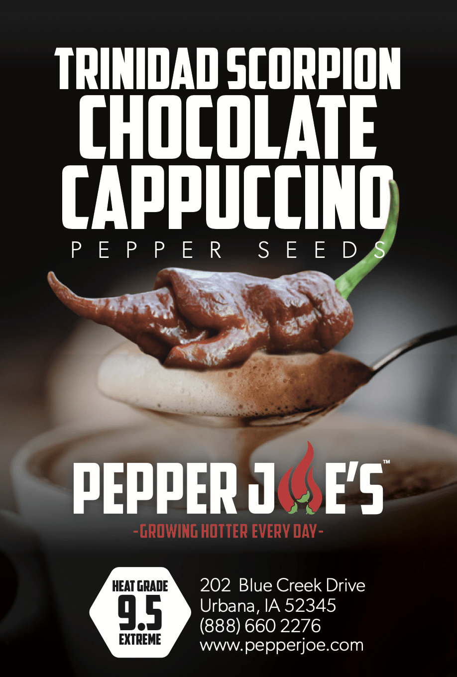Trinidad Scorpion Chocolate Cappuccino - Hot Pepper - Pepper Joe's