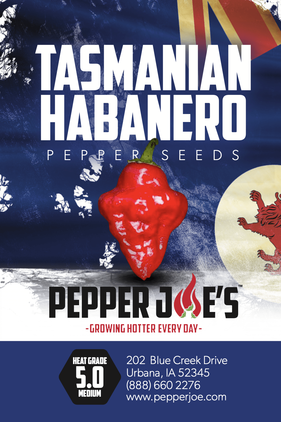 Tazmanian Habanero - Hot Pepper - Pepper Joe's