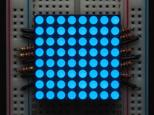 "Small 1.2"" 8x8 Ultra Bright Blue LED Matrix"