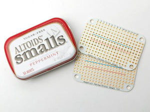 Adafruit Perma-Proto Small Mint Tin Size Breadboard PCB - 3 pack