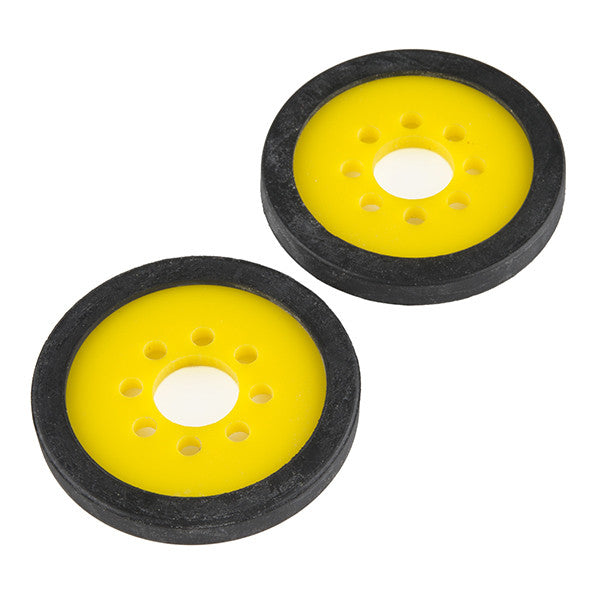 "Precision Disc Wheel - 2"" (Yellow, 2 Pack)"