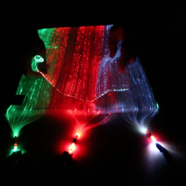 Fiber Optic Fabric - Black (30x30cm)