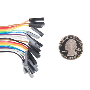 "Jumper Wires - Connected 6"" (M/F, 20 pack)"