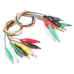 Alligator Test Leads - Multicoloured (10 Pack)