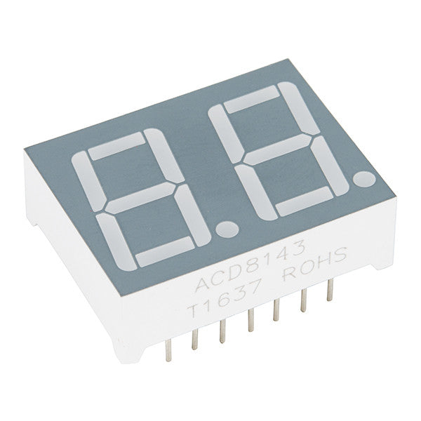 Dual 7-Segment Display - LED (RGB)