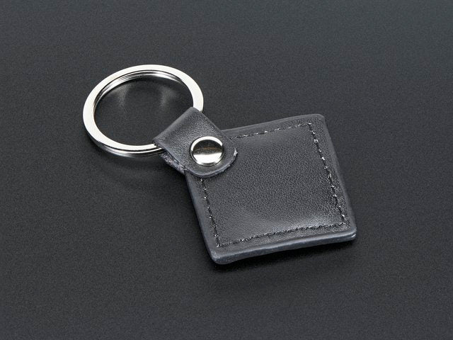 13.56MHz RFID/NFC Leather Keychain Fob - 1KB
