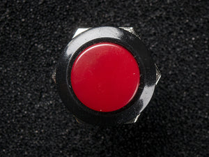 16mm Panel Mount Momentary Pushbutton -  Burgundy