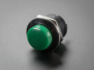 16mm Panel Mount Momentary Pushbutton -  Green