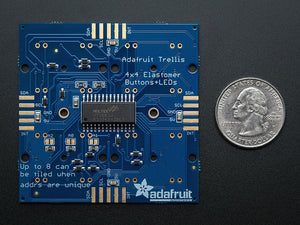 Adafruit Trellis Monochrome Driver PCB for 4x4 Keypad & 3mm LEDs