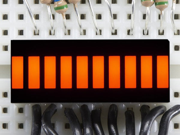 10 Segment Light Bar Graph LED Display - Amber
