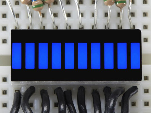 10 Segment Light Bar Graph LED Display - Blue