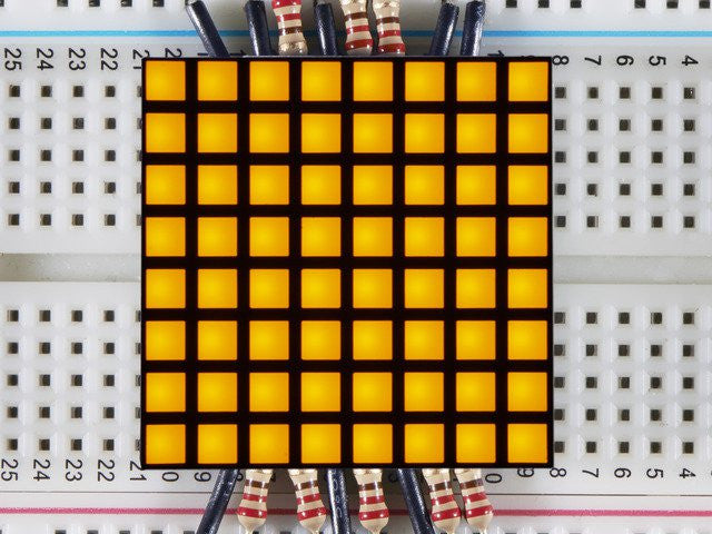 "1.2"" 8x8 Matrix Square Pixel - Yellow"