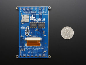"3.5"" TFT 320x480 + Touchscreen Breakout Board w/MicroSD Socket - HXD8357D"