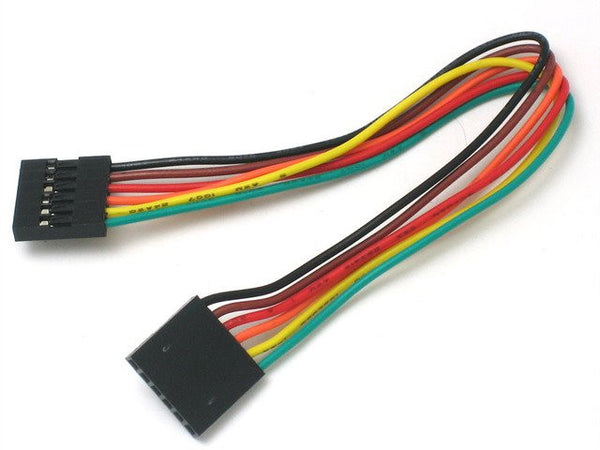 "6-conductor 0.1"" socket-socket cable"
