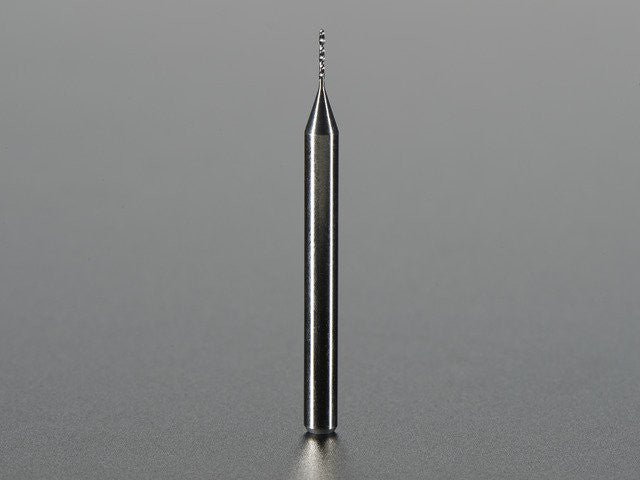 "Carbide Square End Mill - 1/8"" Shaft - 0.5mm Diameter"