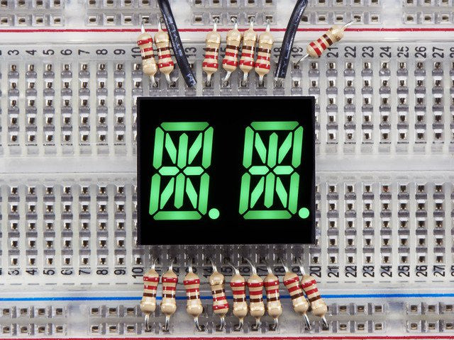 "Dual Alphanumeric Display - Green 0.54"" Digit Height - Pack of 2"